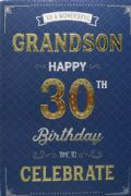 Wonderful Grandson 30th Birthday Card
